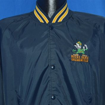 80s Notre Dame Chalk Line Windbreaker Large