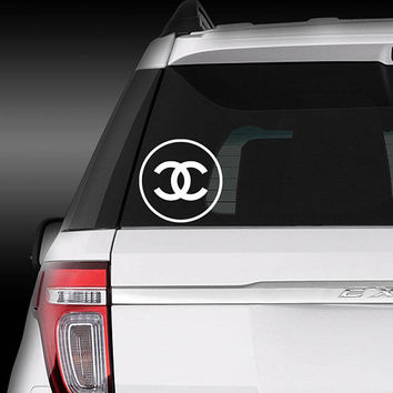 Coco Chanel fashion designer logo symbol Vinyl Decal/iphone skin/cell phone sticker/laptop/macbook/yeti tumbler/car/tablet/iPad/Surface
