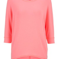 Ultra Soft French Terry High-Low Pullover