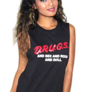 HLZBLZ Sex Drugs Rock and Roll Tank