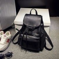 On Sale Hot Deal Comfort Casual Stylish Back To School College Leather Korean Fashion Backpack [6582948679]