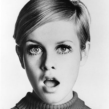 Twiggy Stretched Canvas Art Print Choice of sizes available.