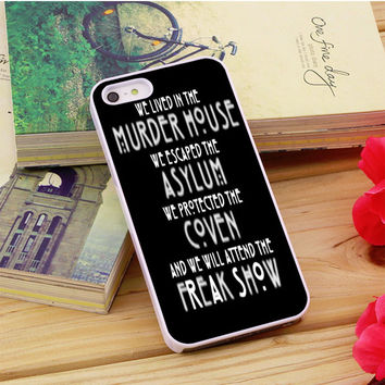 American Horror Story Asylum iPhone 5|5S|5C Case Auroid