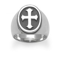 Raised Fleuree Cross Ring | James Avery