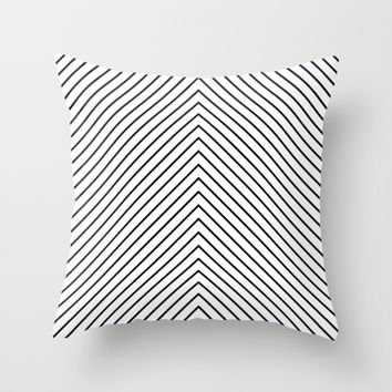#48 Lines Throw Pillow by Minimalist Forms