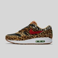 AUGUAU Nike x atmos AIR MAX 1 DLX WHEAT/SPORT RED-BISON-CLASSIC GREEN Black Box (Pre-order)
