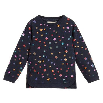 Stella McCartney Girls Navy Metallic Stars Sweatshirt