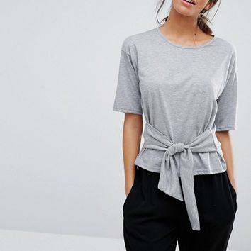 New Look Knot Front Top at asos.com