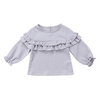 Toddler Newborn Baby Girl Kid Clothing Tops Shirts Blouses Ruffles Long Sleeve Top Blouse Clothes Shirt Baby Girls