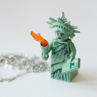 Lego Statue of Liberty Necklace Mini Figure