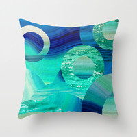 SEA-NCHRONICITY Throw Pillow by Catspaws