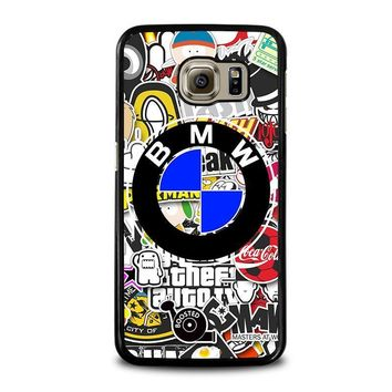 bmw sticker bomb samsung galaxy s6 case cover  number 2