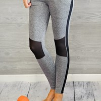 * April Athletic Legging : Grey/Black