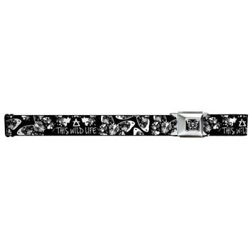 This Wild Life Men's  Butterfly Seatbelt Buckle Belt