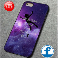 Disney Peter Pan Tinkerbell Quotes Nebula Galaxy  for  for iphone, ipod, samsung galaxy, HTC and Nexus PHONE CASE