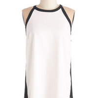 Minimal Mid-length Sleeveless Contour of the World Top
