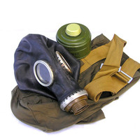 Gas mask Halloween steampunk military black soviet rubber with a filter and bag USSR