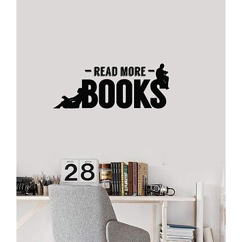 Vinyl Wall Decal Books Quote Reading Room Corner Library Interior Decor Stickers Mural (ig5714)