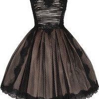 Dolce & Gabbana|Strapless lace and tulle dress