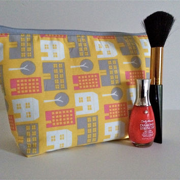 Cityscape Cosmetic Bag Makeup Bag Gadget Bag
