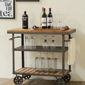 Montgomery classical Fashion Wood and Iron Bar Table
