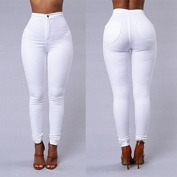 Women's Simple High Rise Skinny Jeans