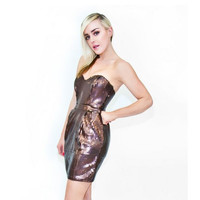 Naven Heartthrob Bronze Sequin Dress