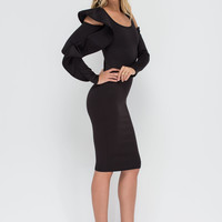 Outside The Box Ruffled Cut-Out Dress