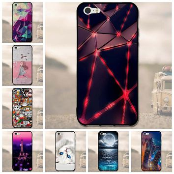 For iPhone 5 5S Rubber Case 5SE 5 S Cute Cartoon Shell Original For iPhone5 5 S SE Soft TPU Silicon Mobile Phone Back Covers