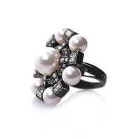 Pearl and crystal ring | Lanvin | MATCHESFASHION.COM
