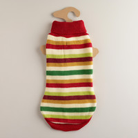 Medium Multi-Stripe Dog Sweater - World Market
