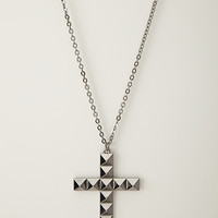 Pyramid Cross Necklace
