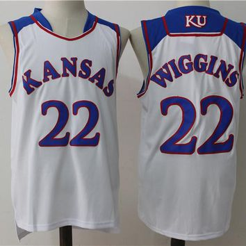 Best Sale Online NCAA University Basketball Jersey Kansas State Wildcats # 22 Andrew Wiggins White