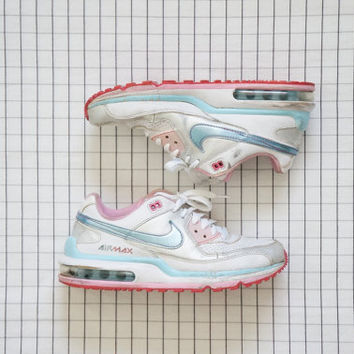 90's Nike AIRMAX, Baby Pink& Blue BB Girl Sneakers, Cyber Angel, Pastel Goth, Aesthetic, Tumblr, US Women 6.5