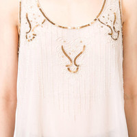 Beaded Flare  Top