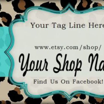 Custom Hang Tags Business Card Printed Custom Boutique Animal Print Hang Price Tags, design, hang tags, pricing, business card