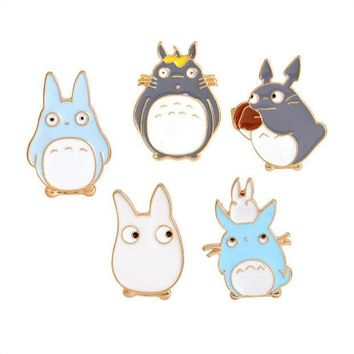 ac spbest 1Pcs!  Fashion Jewelry Accessories Cartoon Alloy Enamel Pin Badge Totoro Cute Brooch For Girls As Gifts