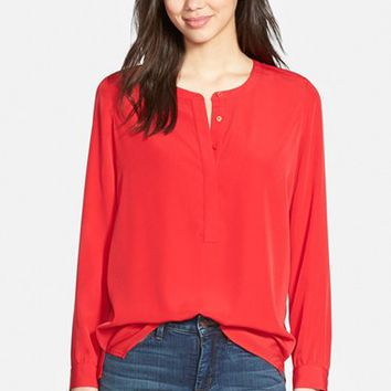 Petite Women's NYDJ Woven Tunic Top