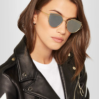 Gentle Monster - Love Punch aviator-style gold-tone sunglasses