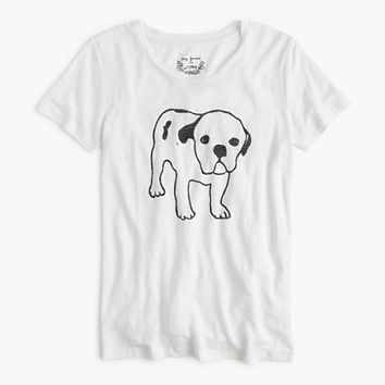 Hugo Guinness For J.Crew Dog Linen T-Shirt