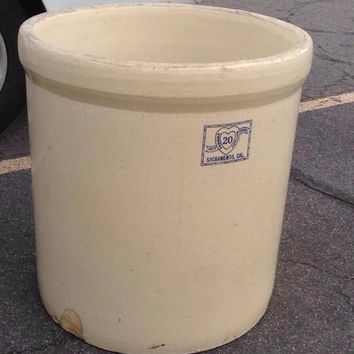 Panama pottery 20 gal antique crock
