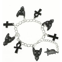 Punky Pins Ankh Cat Bracelet | Attitude Clothing