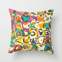 Mod Tumble Throw Pillow by Beth Thompson