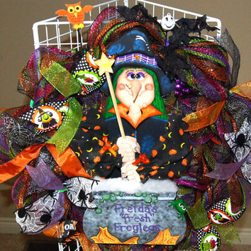 Halloween Hand Painted Freida Witch Deco by KraftyKreations4You