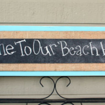 Chalkboard Message Sign / Welcome Sign  by BeneathTheBarkAt825