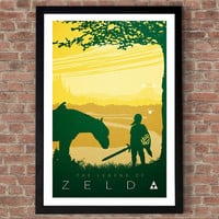 Legend of Zelda poster print