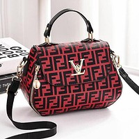 FENDI Trending Women Stylish Shopping Bag Handbag Tote Shoulder Bag Crossbody Satchel Red