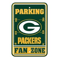 Green Bay Packers NFL Plastic Parking Sign (Fan Zone) (12 x 18)