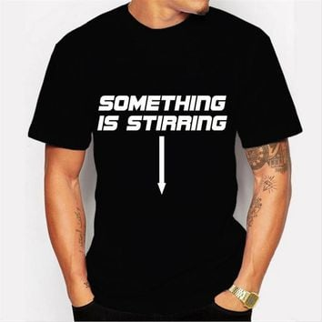 New fashion creative letters something..  printed men's customized t-shirt casual basic tops hipster funny tee