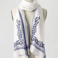 Women's Embroidered Border Scarf from Lands' End